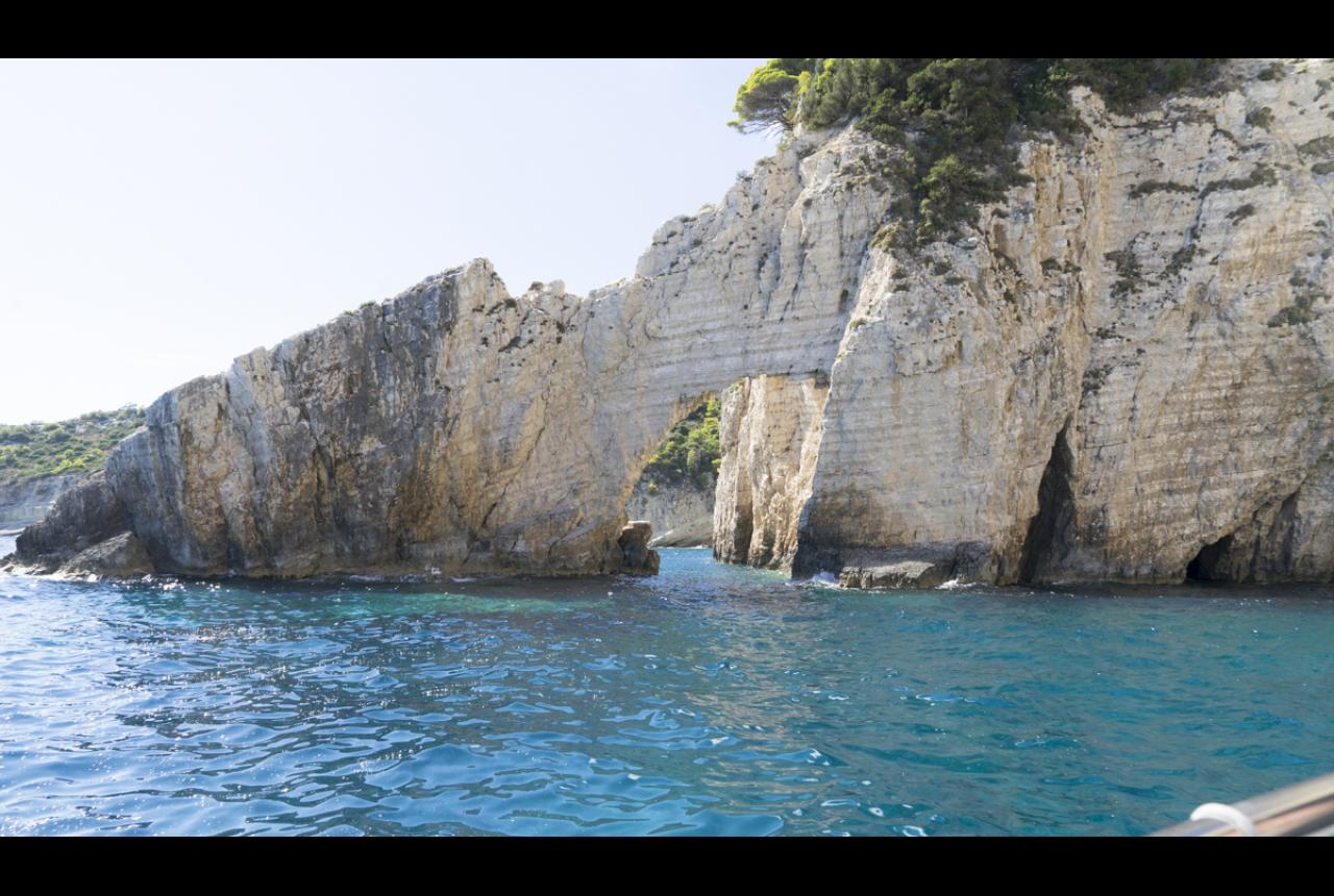 The caves in the southwest coast of Zakynthos