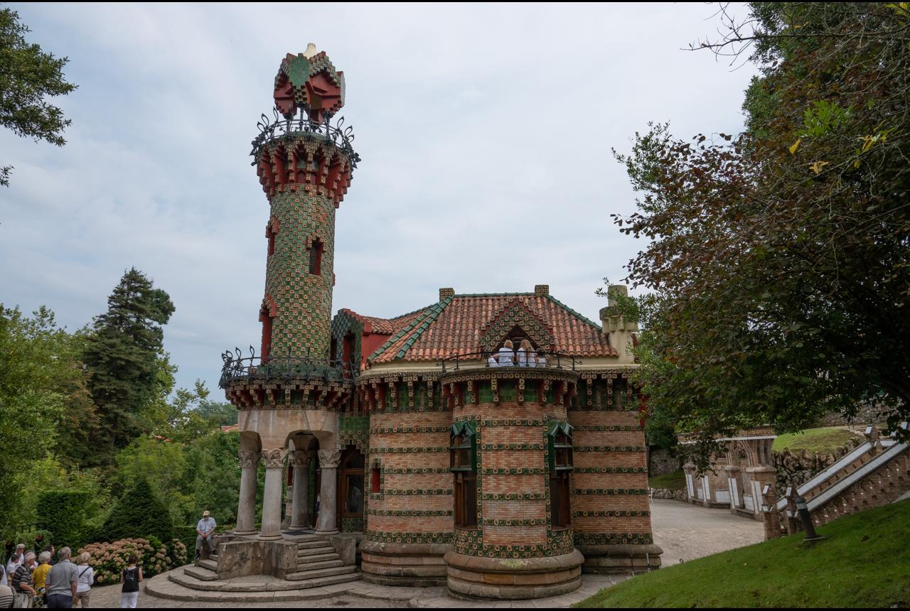 In Comillas there is the house Capricho de Gaudi. An imaginative building with incredible window designs.